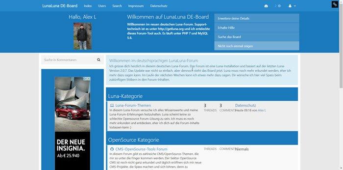 lunaforum-frontend-opensource-forum-cms
