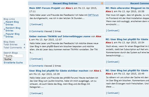 phpbb-board-user-blog-mod-installiert