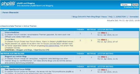 User Blog Mod und Ultimate SEO URLs v0.7.0 bei PHPBB 3.0.13