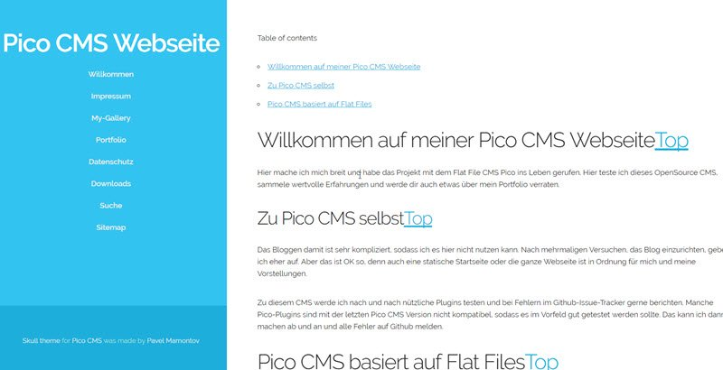 pico-cms-flat-file-blog-im-frontend