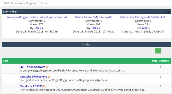 Gibt es ein CMS bei der SMF-Forum Software