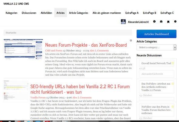 vanilla-forum-artikel-startseite