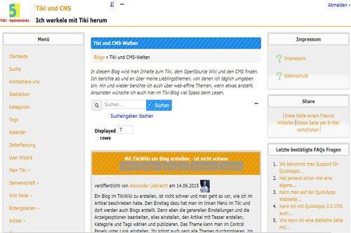 tikiwiki-blogstartseite-frotend