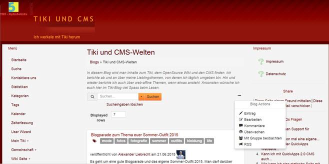 Meine Fortschritte mit dem TikiWiki – einer guten PHP-Wiki-Software