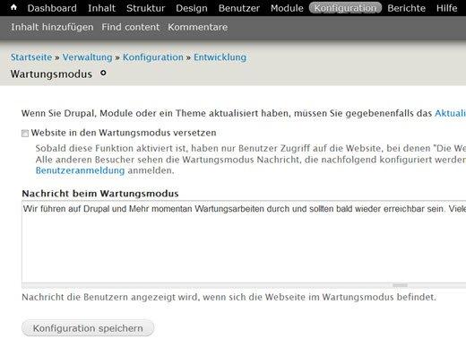 drupal7-konfiguration-wartungsmodus