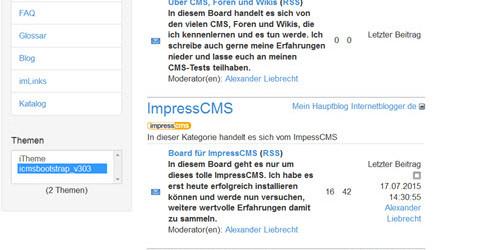 impresscms-forum-frontend-theme-bootstrap