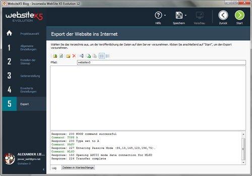 websitex5-evolution12-export-webseite-ins-internet