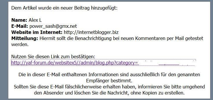 websitex5-evolution12-kommentare-mail-benachrichtigung