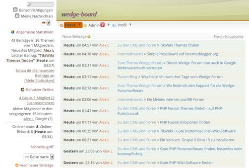Wedge Forum im Frontend 001