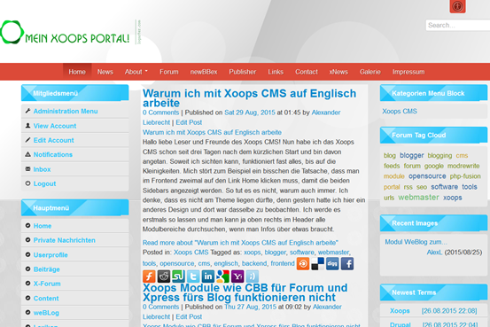 xoops-portal-frontend