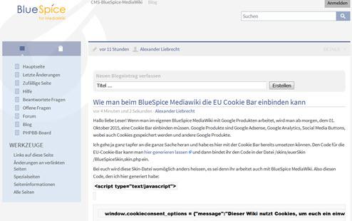 MediaWiki 1.27.0 RC0 und BlueSpice 2.23.3 erschienen – neue Funktionen – NICHT UPGRADEN!