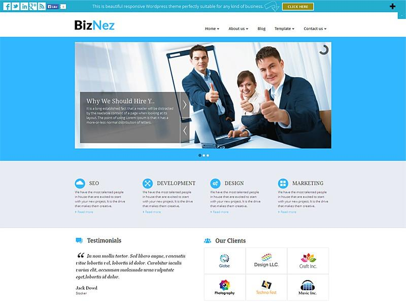 Biznez Lite WordPress Theme