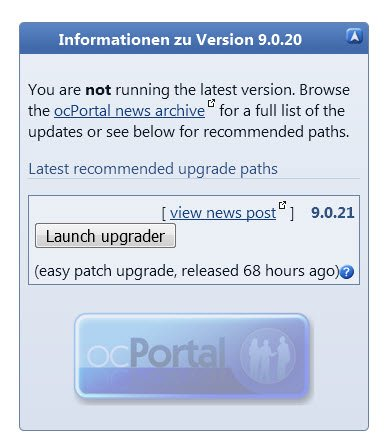 ocPortal Upgrade Version 9.0.21