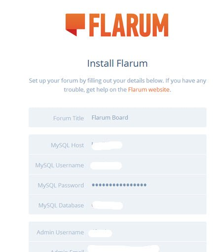 flarum-installation