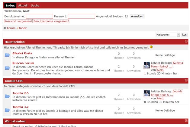 kunena-forum-frontend-startseite