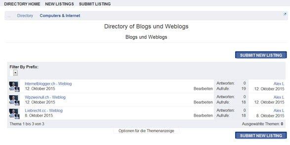 xenforo-addon-business-directory-kategorie-liste