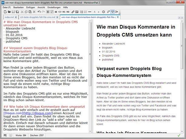 dropplets_cms-markdownpad2-editor