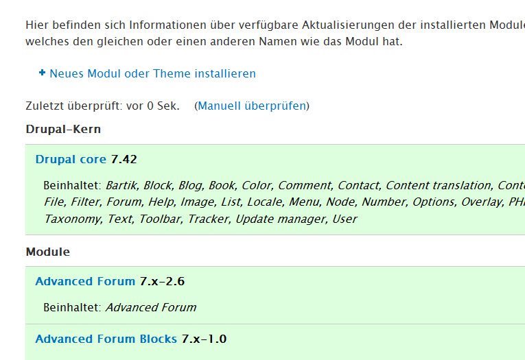 Drupal 7.42 Update – Wartungsrelease inkl. Bugfixes – Updaten empfohlen