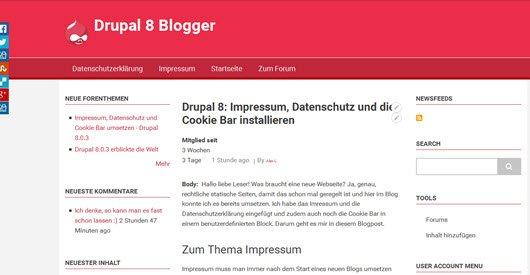 Drupal 8.1.1 mit Bugfixes verfügbar