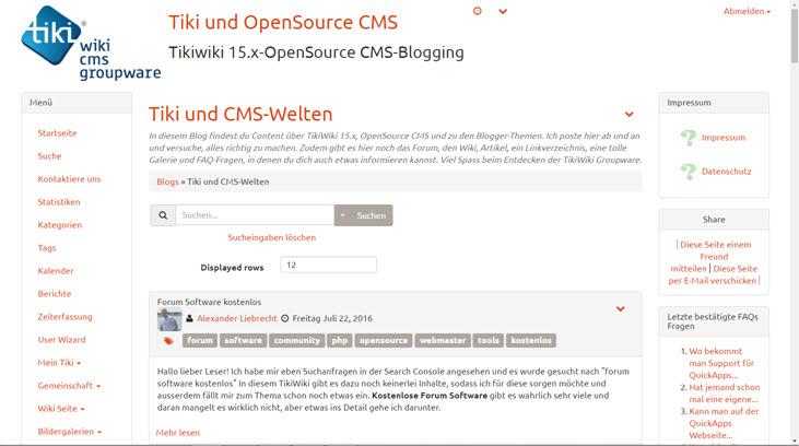 TikiWiki 16 als Entwicklerversion verfügbar – Updaten klappte