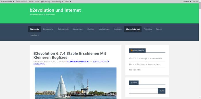 B2evolution 6.7.8 verfügbar – Bugfixes und ein paar Verbesserungen