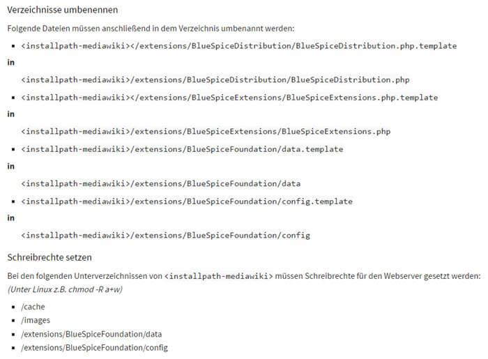 bluespice-mediawiki-installation-pfade-umbenennen-schreibrechte-setzen