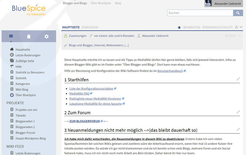 BlueSpice Mediawiki Update von Version 2.23.3 auf 2.27.0 Beta