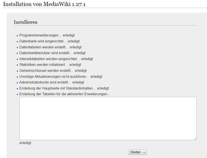 mediawiki-install_centos-7-installationsschritt8-eigentliche-mediawiki-installation-alles-erledigt