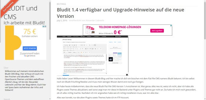 bludit-1-5-0-cms-im-frontend-einzelner-beitrag-inkl-google-adsense