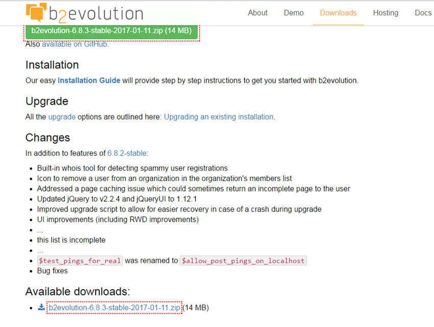 Neues CMS-Update: B2evolution 6.8.3 erschienen