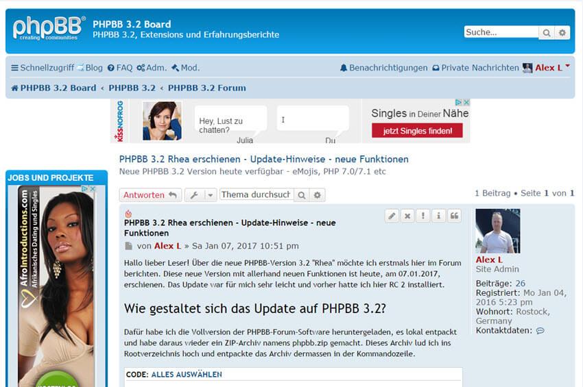 PHPBB 3.2 Rhea erschienen – Verbesserungen, PHP 7.0-Support, Emojis und mehr