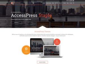 AccessPress Staple WordPress Theme