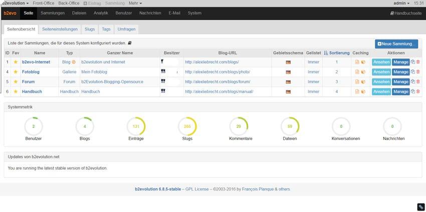 B2evolution CMS 6.8.5 online verfügbar - Behebungen in Sicherheit und in Fehlern