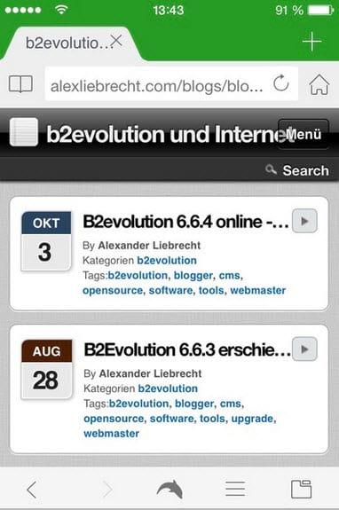 b2evolution-mobil-blogstartseite