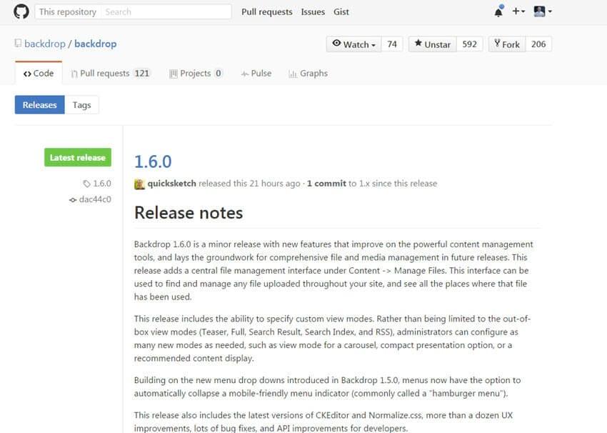 Backdrop CMS 1.6.0 erschienen – Bugfixes und Verbesserungen + Features