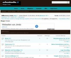 Blogger-Forum Webmasterwelten.de