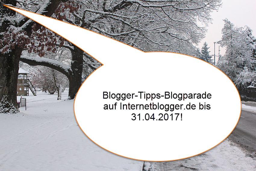 Blogparade für beginnende BloggerInnen mit Tipps