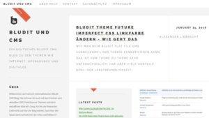 Bludit CMS Startseite Blog-Frontend