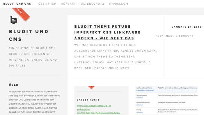 Bludit 1.5.0 CMS erschienen und neues Dashboard + Bug/Security Fixes