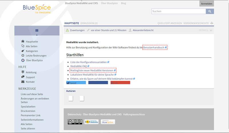 MediaWiki-Sicherheitsupdates und Update von BlueSpice MediaWiki
