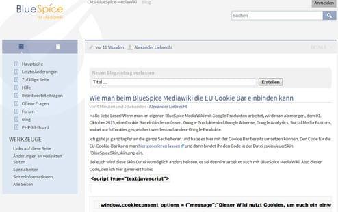 MediaWiki 1.27.0 RC0 und BlueSpice 2.23.3 erschienen - neue Funktionen - NICHT UPGRADEN!