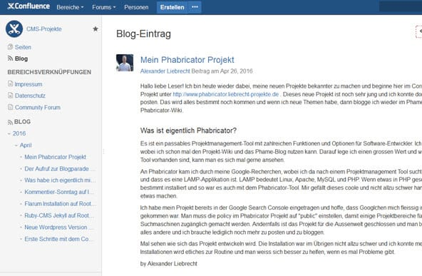 confluence-blog-frontend