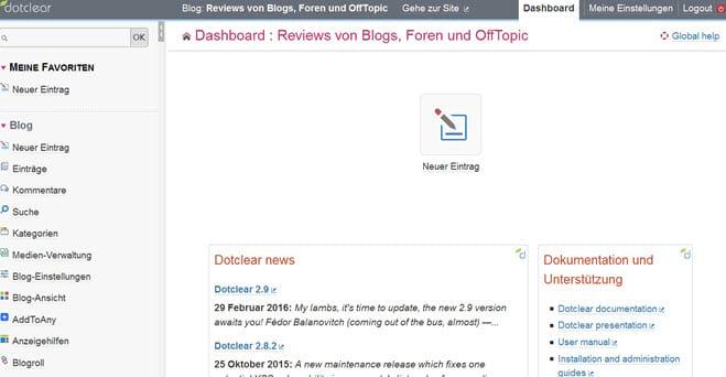 DotClear 2.9 CMS erschienen - updaten empfohlen