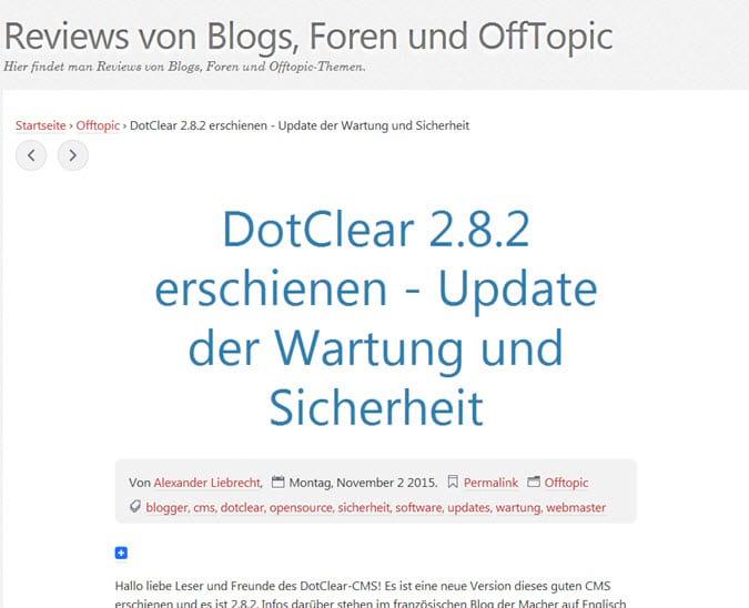 Wichtige Updates: Vanilla Forum 2.1.13 und DotClear 2.8.2 - Sicherheit und Wartung