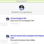 Neues vom Dropplets Flat File CMS und aus dem Dropplets Blog von mir