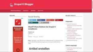 drupal-8.1.8-im-frontend-blog-startseite