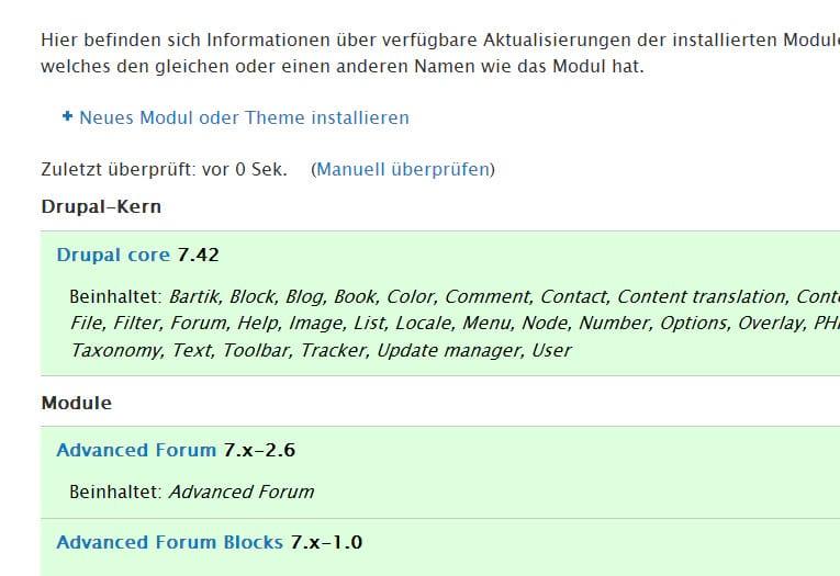 Drupal 7.42 Update - Wartungsrelease inkl. Bugfixes - Updaten empfohlen