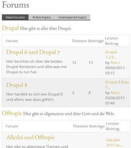 drupal7-forum-frontend-startseite