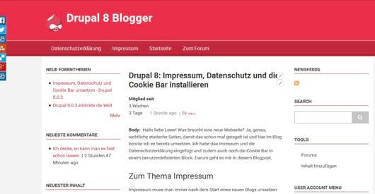 Drupal 8.1.2 verfügbar mit Bugfixes - Updaten sehr empfohlen