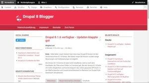 Drupal 8 Blog Wpshopde.de im Frontend
